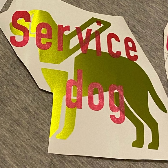 None Other - Service dog decal